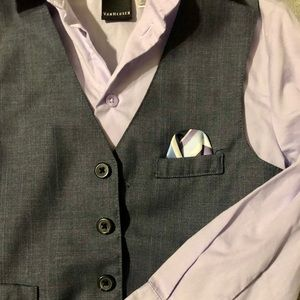 Sharp Lilac and Charcoal Boys Top